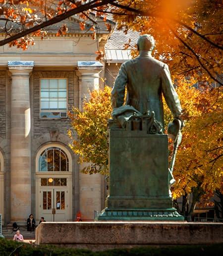 Ezra Cornell statue