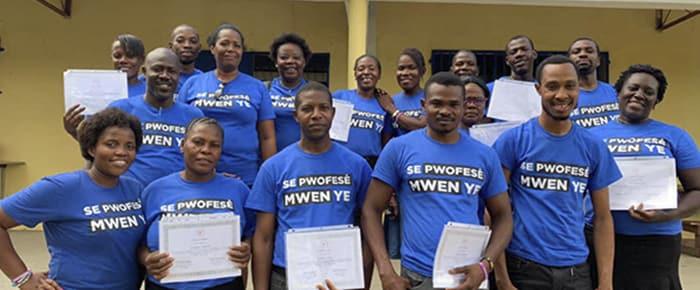 Teachers for Projecting The Light On The Children of Cima school at teacher training