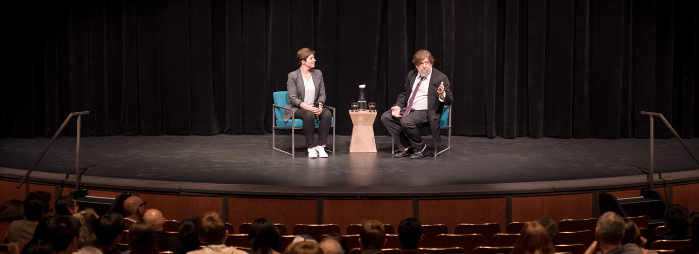 Oskar Eustis talking about Theater and Democracy