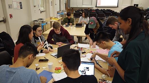 Milstein student build their paper sound designs