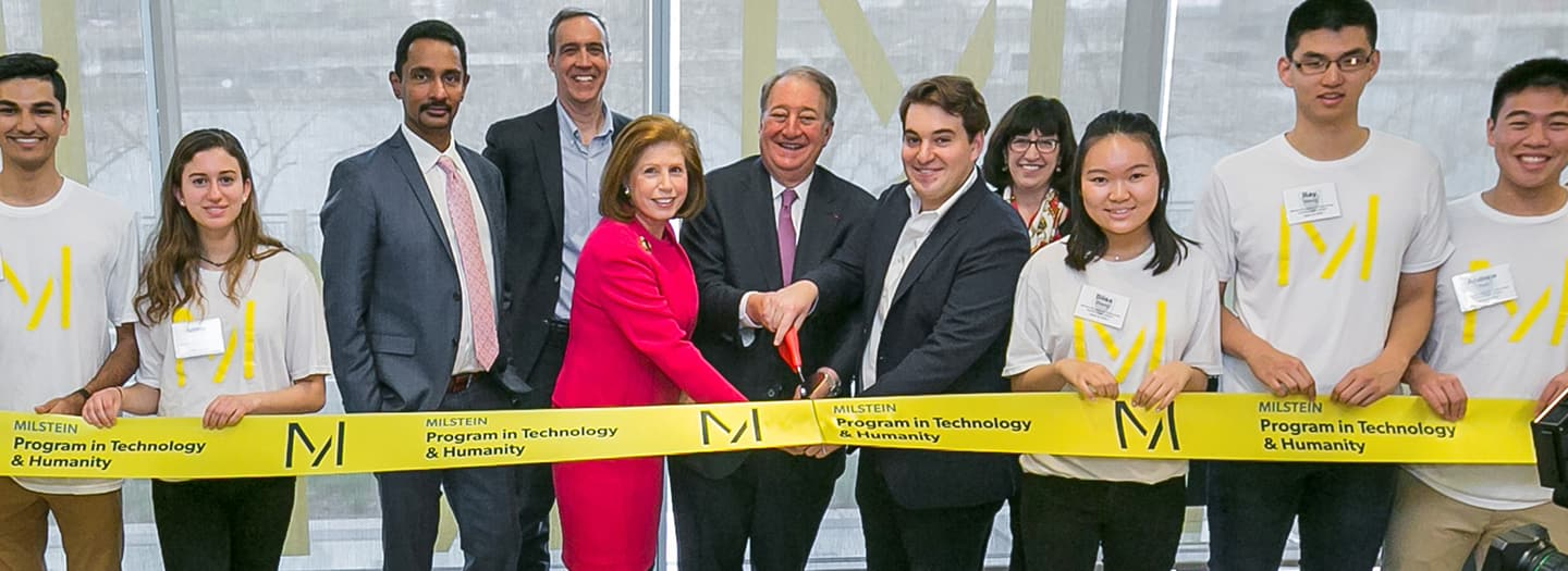 Ribbon Cutting at Cornell tech for Milstein Program