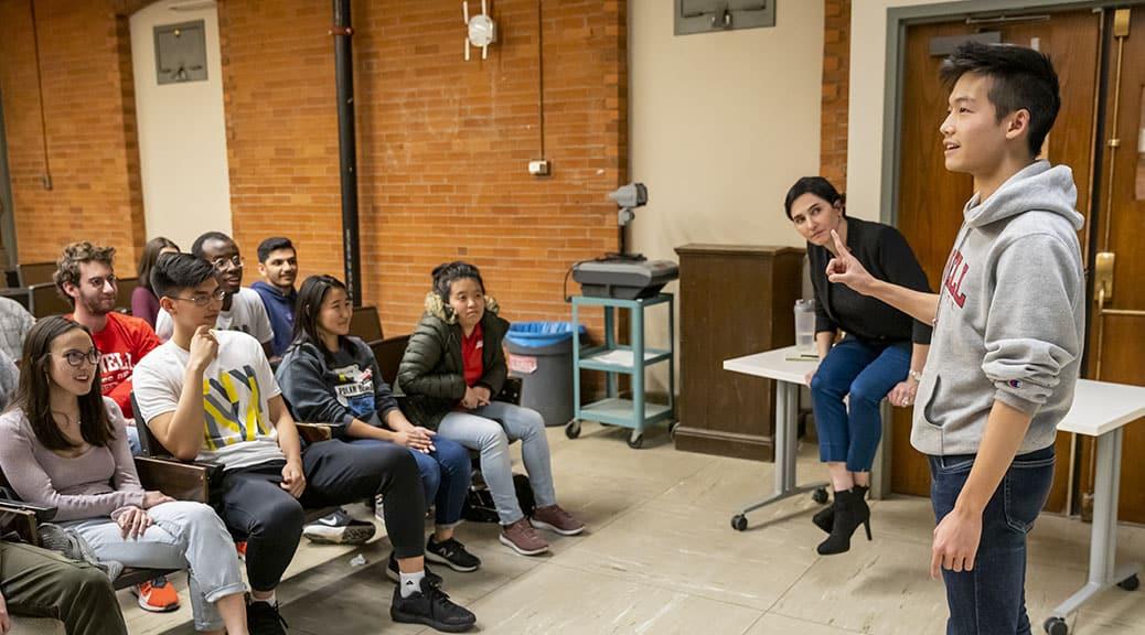 Milstein Students Practice Public Speaking Skills