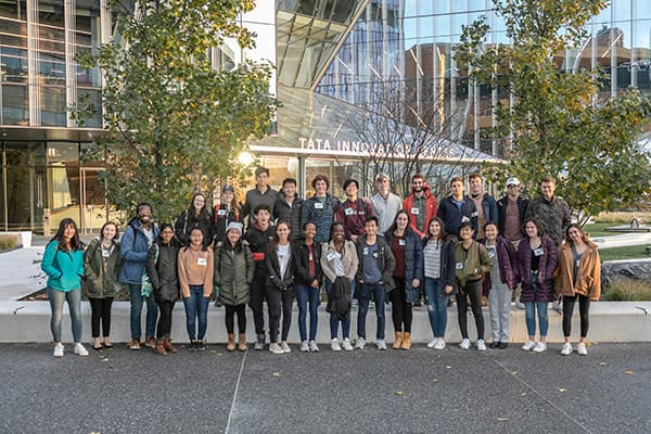 Milstein Program students at the Cornell Tech campus