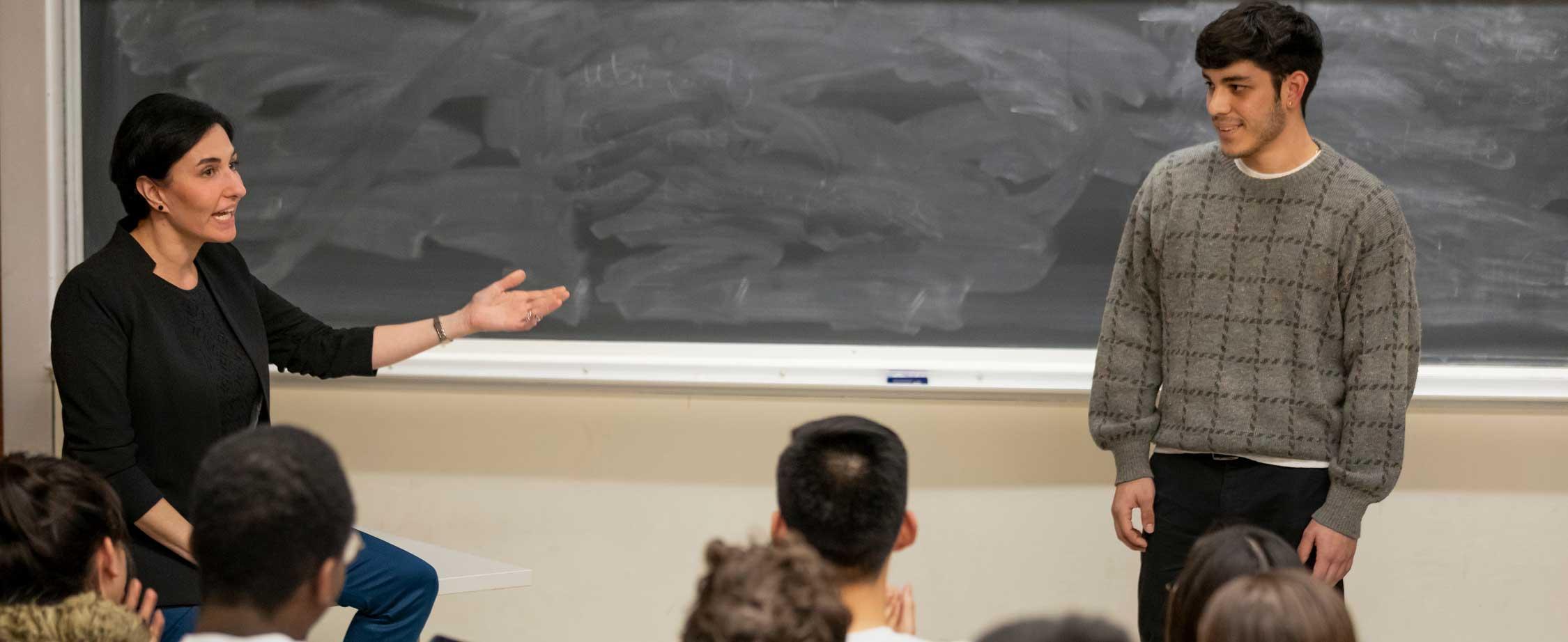 Milstein Students at Public Speaker Workshop